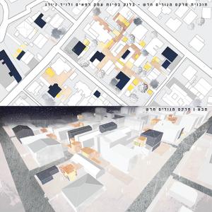 תוכנית ומבט אדריכליים